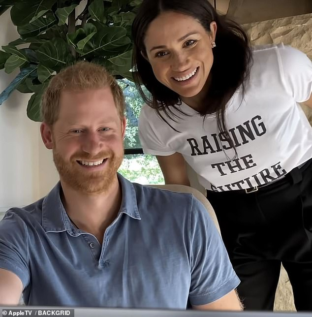 Prince Harry and Meghan Markle (pictured) will be in New York tomorrow morning to meet with New York City Mayor Bill de Blasio, his biographer has claimed