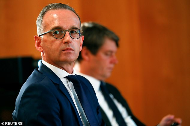 GermanForeign Minister Heiko Maas, who has developed close ties with the Biden administration, told reporters at the UN: 'I can understand our French friends' anger' (pictured: in Berlin on September 15)