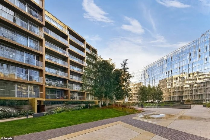 The modern property is on the market for £1.15 million and is being sold through property agents Martin & Co.