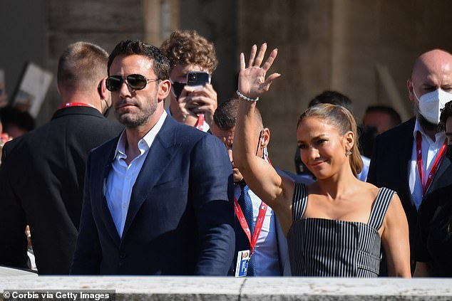 Admiration:Meanwhile, Ben has admitted to being in 'awe' of the Jenny from the Block hitmaker. Seen on September 10 in Venice