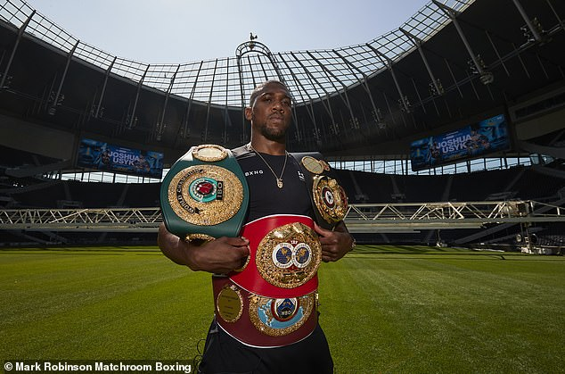 Heavyweight Joshua has been part of Matchroom's stable since turning professional in 2013