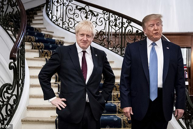 Trump and Johnson were often compared for their bombastic public style and populist politics