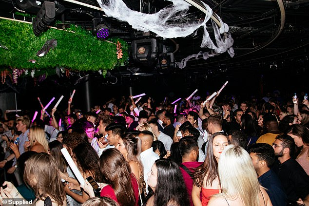 Mr Perrottet revealed that nightclubs were initially supposed to re-open at the 70 per cent vaccination stage but were pushed back. Pictured: The Ivy club in Sydney before lockdown