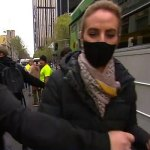 Brave moment TV reporter stares down anti-vax protestors and warns she won't be intimidated 💥👩💥
