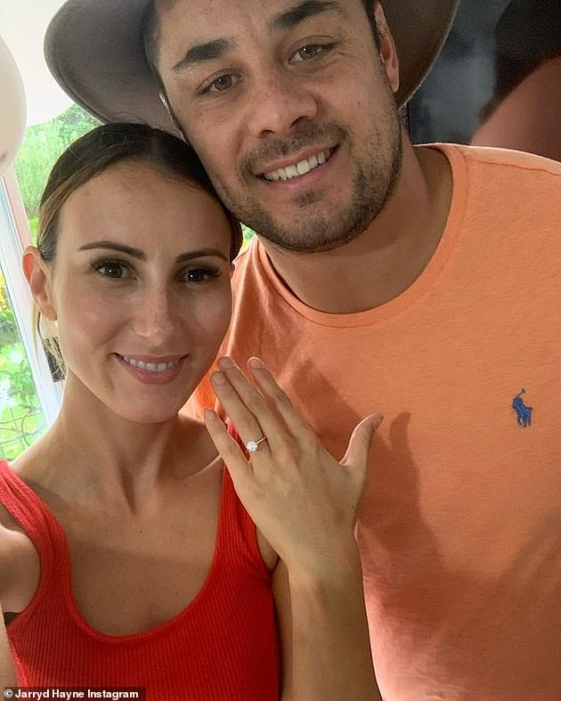 Hayne pictured with wife Amellia Bonnici. He was sentenced to a non-parole-period of three years and eight months