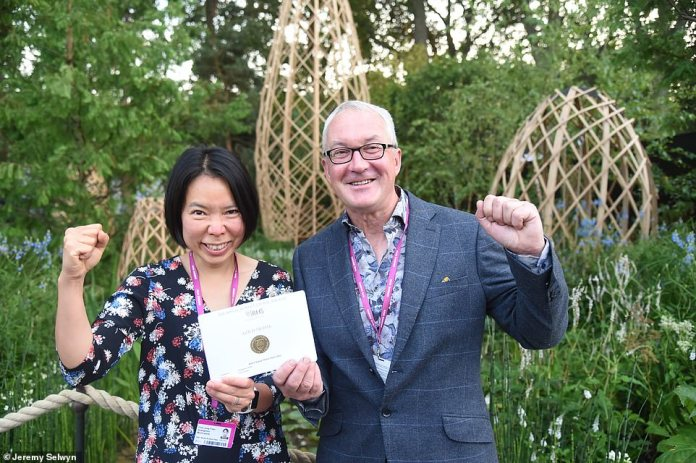 The garden was created by landscape architects and first time design duo Peter Chamil and Chin-Jung Chen, who specialize in eco-friendly design and have never before exhibited at the RHS Chelsea Flower Show.