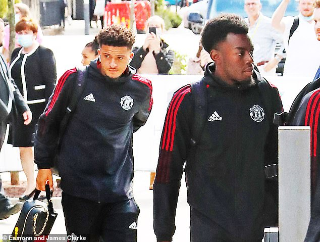 Jadon Sancho (left) has traveled with the team and Anthony Elanga (right) is also set to play