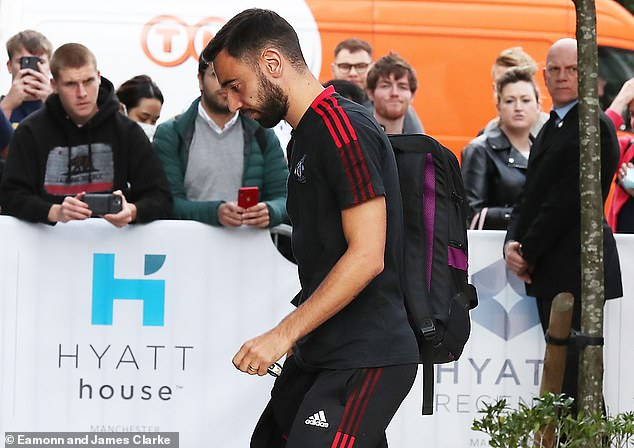 Manchester United seem to have rested Cristiano Ronaldo for their Carabao Cup tie with West Ham, but Bruno Fernandes (above) has traveled with the team