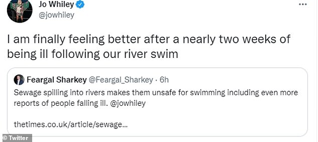 Joe wrote: 'After almost two weeks of getting sick after swimming in our river I'm finally feeling better'