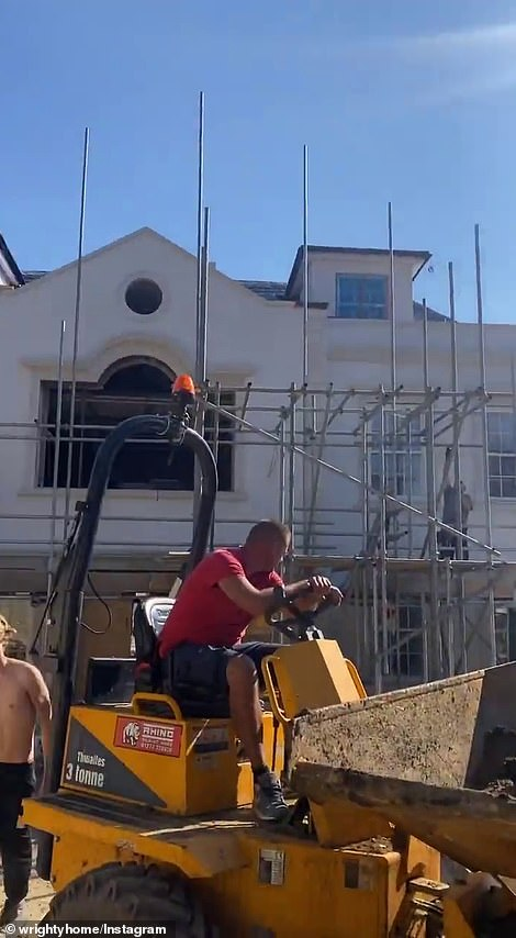 Mark took to Instagram on Wednesday to share footage of the property, telling his followers: 'This loft is coming down'