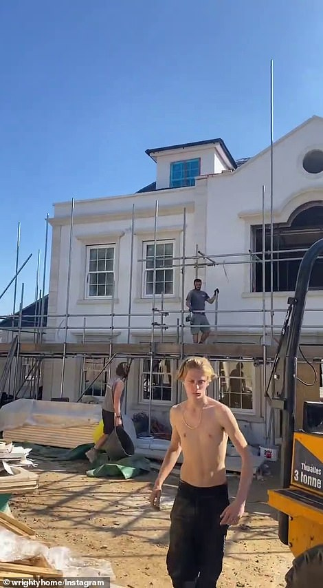 'The loft is coming down': Mark Wright gave an 'exciting' update on his and wife Michelle Keegan's '£3.5m dream home' on Instagram on Wednesday as he shared a new glimpse inside the impressive Essex property