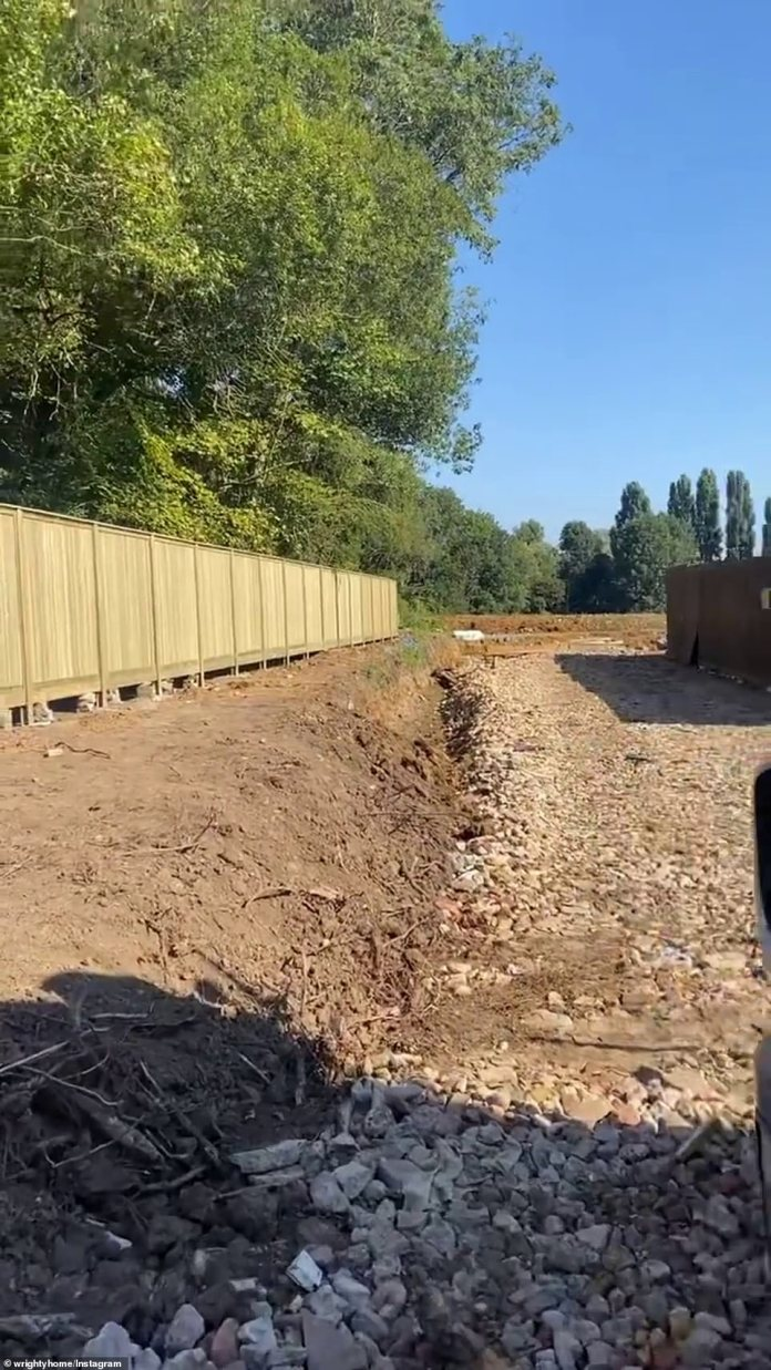 Process: The couple, who have an estimated net worth of £12million, are documenting the construction process after purchasing the original property in October 2019 for £1.3million.