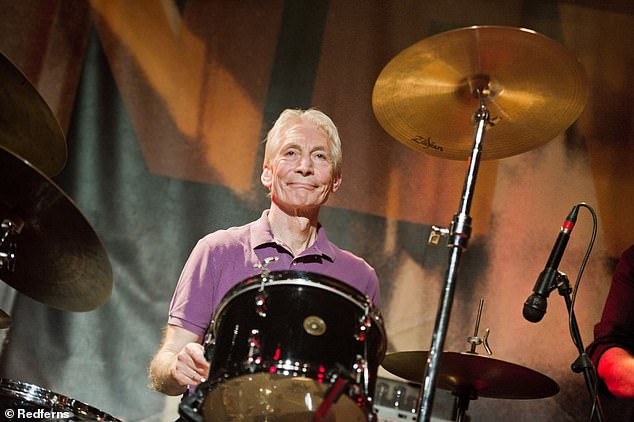 Friends: Charlie Watts died last month at the age of 80 surrounded by friends and family and Ringo described him as 'a great man and a lot of fun'.