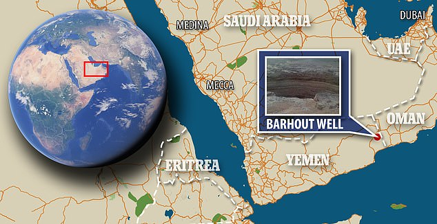 Barhout's Well - also known as Hell's Well - is closer to the border with Oman than Yemen's capital Sanaa and is a giant hole in the desert of Al-Mahra