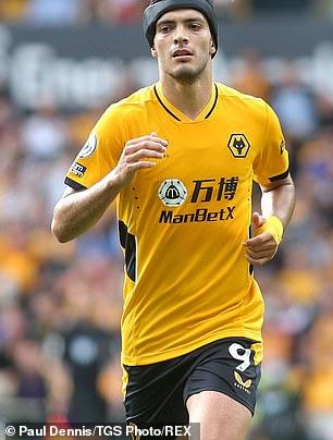 Sportsmail understands that outlawing gambling companies' front-of-shirt logos is almost certain to be one of the proposals included on a white paper (Picture: Wolves sponsored by ManbetX)