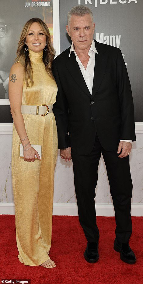 Date night: Ray Liotta, who stars in The Many Saints of Newark, had his fiancee Jacy Nittolo by his side on Wednesday evening