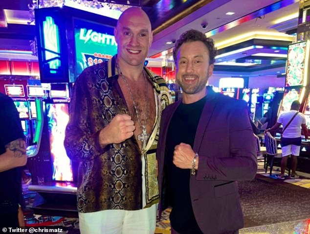 Fury (left) sparks anger in the boxing community by appearing at a Las Vegas casino just days after testing positive for COVID-19