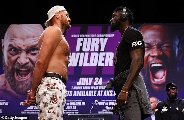 Fury (left) needs to defeat Wilder (right) on October 9 to help set up the Anthony Joshua fight
