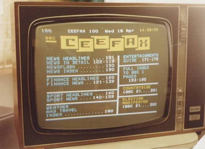 Before the emergence of Twitter and 24-hour online news, the main way of finding out what was happening in the world came via newspapers and the radio. But with the launch of the BBC's Ceefax – the world's first teletext service - in 1974, a quiet, colourful revolution began in a handful of British homes