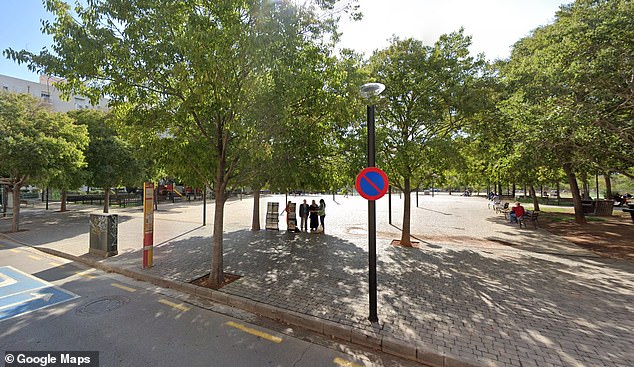 Emina was discovered in the WiFi park in central Palma which is just a stone's throw from theCivil Guard's headquarters