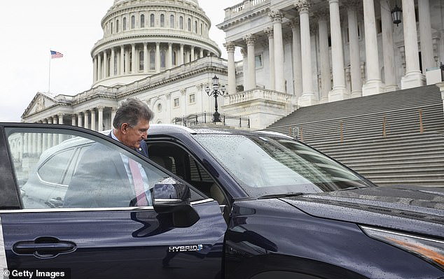 President Joe Biden told moderate Senator Joe Manchin (above) to name his price on the budget deal as he tries to break up party infighting