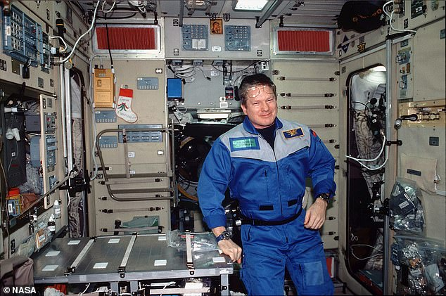Former NASA astronaut Bill Shepherd (pictured on the ISS), served as the first commander aboard the station from October 2000 to March 2001.  He said more cracks are likely