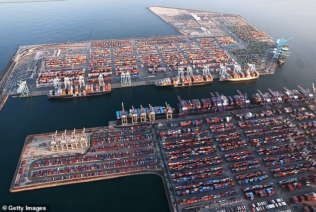 The ports serve as the entry point for a third of imports to the US, and are the main import point for goods coming from China