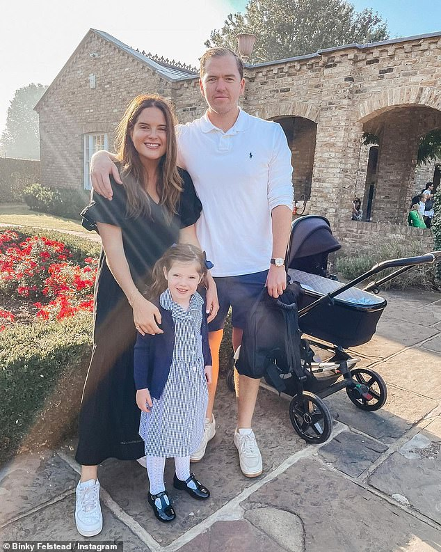 Sweet: The TV personality shares her eldest and only daughter with her ex Josh 'JP' Patterson, before meeting her now husband Max Fredrik Darnton - who is the father of 'Wolfie'