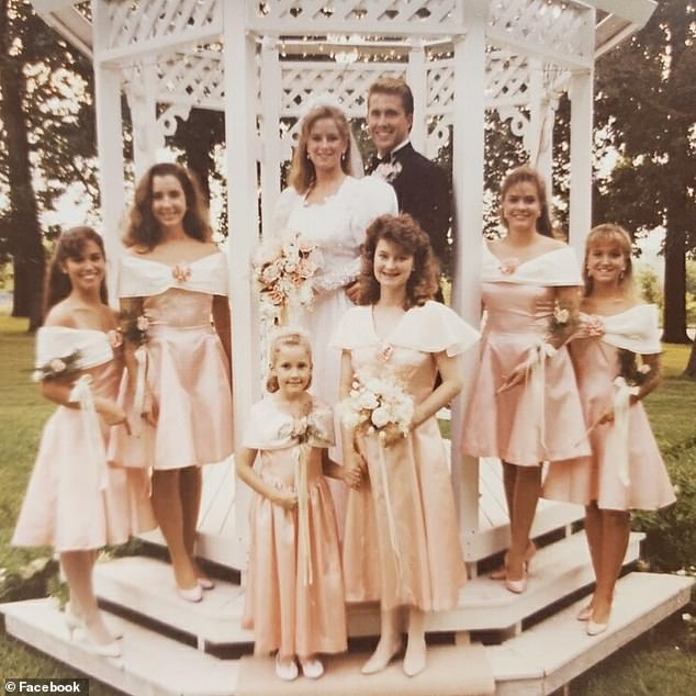 The couple had been married for 29 years (pictured on their wedding day) and raised their family in College Station, Texas