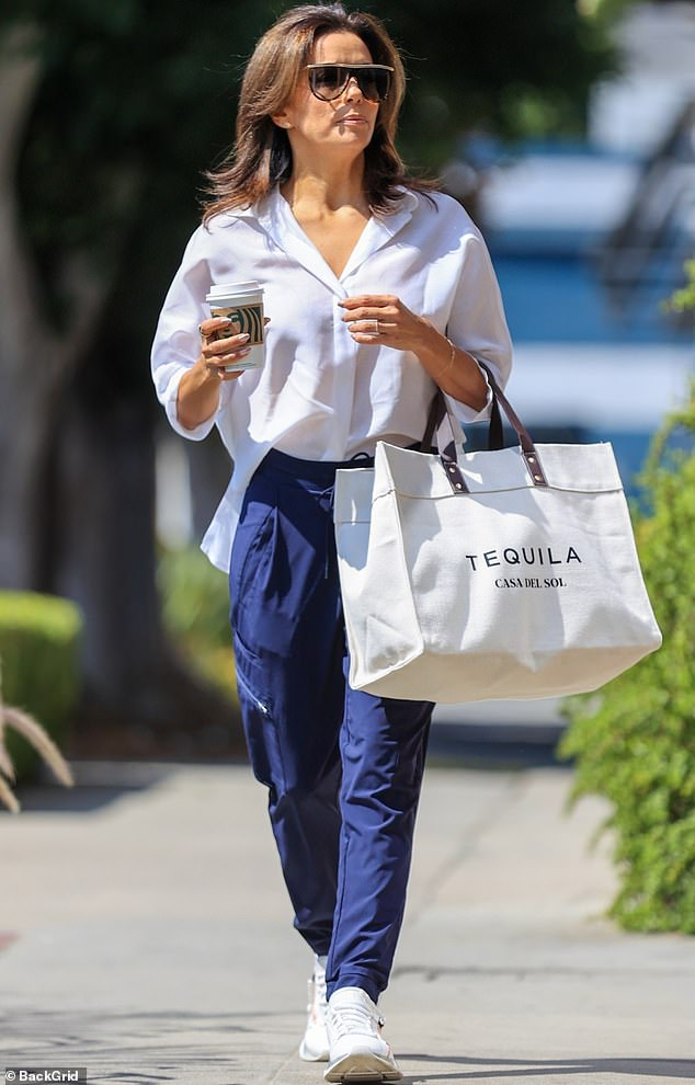 Off she goes:Eva Longoria was Beverly Hills chic when she stepped out in the 90210 zip code this week for a bit of shopping