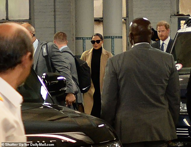 The couple had their security and the help of Government security as they left from the garage of the Carlyle Hotel