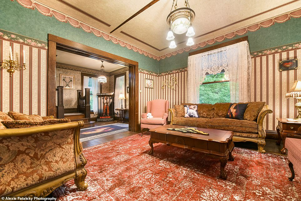 Investment: Chris Rowan, a film art director and prop stylist from New York City, purchased the 2,400-square-foot home for $290,000 after it hit the market last October