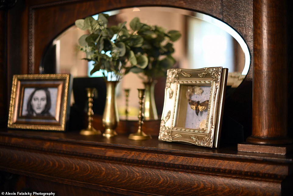 FYI: The decor features plenty of death's-head hawkmoths, the insect Buffalo Bill left in the throats of his victims