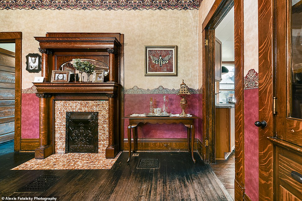 Victorian charm: Built in 1910, the home has retained its original hardwood floors, woodwork, light fixtures, pocket doors, and fireplaces