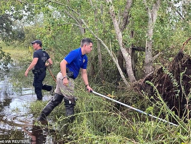 St. Tammanny Parish Sheriff's Office deputies searched for the alligator after the attack