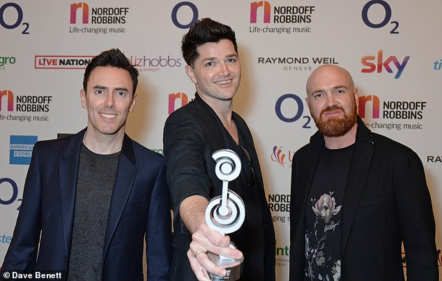 Sueing: The Script filed their lawsuit after James' 'similar' track Say You Wont Let Go re-started his career and reportedly generated$20million (pictured in 2018)
