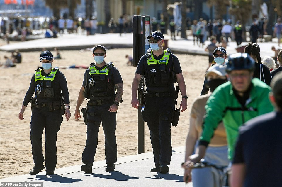 , Victorian police out in full force finding only crowds of sunbathers and joggers in St Kilda, The Today News USA