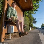 Villagers' fury as bus stop seats are 30 INCHES high - leaving pensioners' legs dangling in the air 💥👩💥