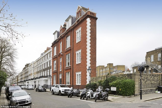 Despite being just 13 feet wide, the property, in the exclusive borough of Kensington and Chelsea, is hiding spacious and well-lit rooms