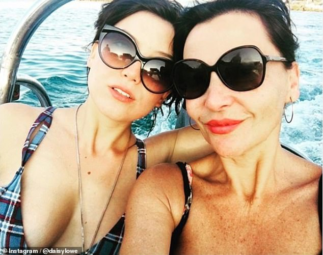 Strong bond:Daisy also credited her 'mum's sobriety' for their newfound bond, after Pearl (pictured right) quit drugs and alcohol some 17 years ago