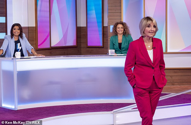 Revealing all:She has since trusted the experts to help her, revealing on the show that she went to GPs for her symptoms of early menopause