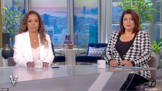 The co-hosts looked stunned as they received the news ahead of the highly-anticipated interview