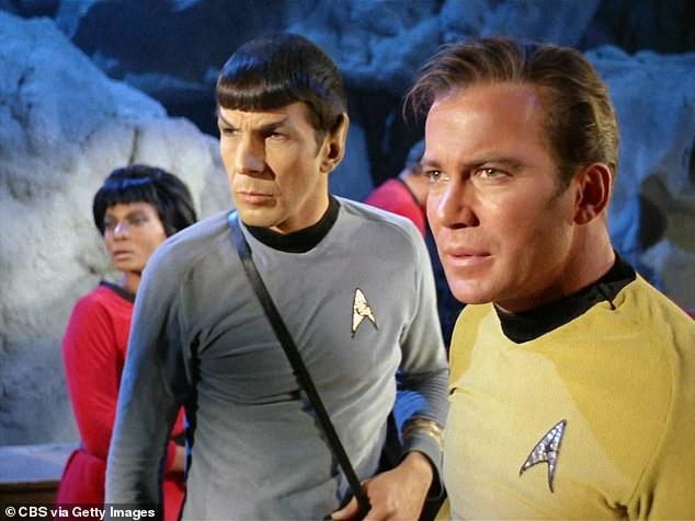 Shatner, right, starred at Captain Kirk in the 1960's cult classic Star Trek: The Original Series