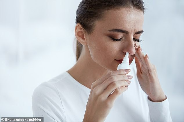 A study suggests that a nasal spray containing the 'love hormone' oxytocin can help us lose weight.  Testing shows that one squirt in each nostril is enough to stop us from thinking about food.  (file image)