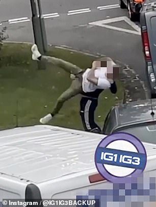 Things take an even more violent turn asone body-slams the other