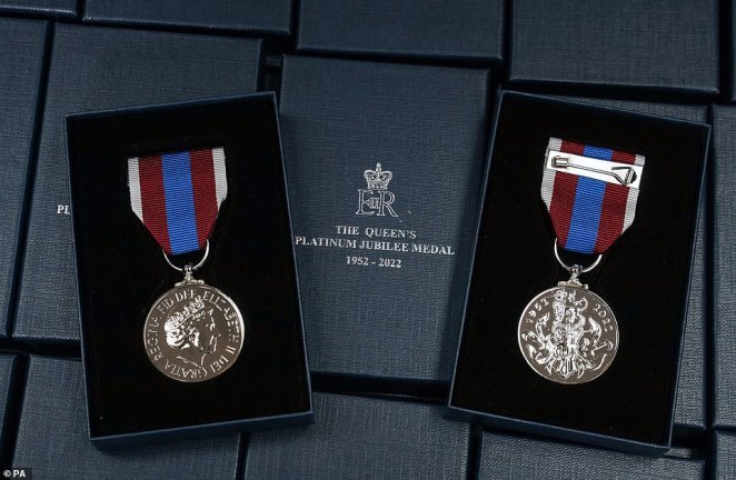 ThePlatinum Jubilee medal has been hailed as a fitting tribute to the sacrifices of the Armed Forces, emergency services and others who will receive the award marking the Queen's 70-year reign