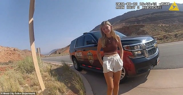 Police bodycam footage revealed the moment Utah cops asked missing 'van-life' woman Gabby Petito why she slapped her boyfriend Brian Laundrie in a dramatic incident 13 days before she disappeared on their cross-country trip