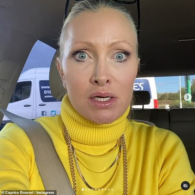 Irritated: She began, through gritted teeth, 'I've been sitting here for fifteen minutes now waiting to get petrol. Finally I'm at the front.