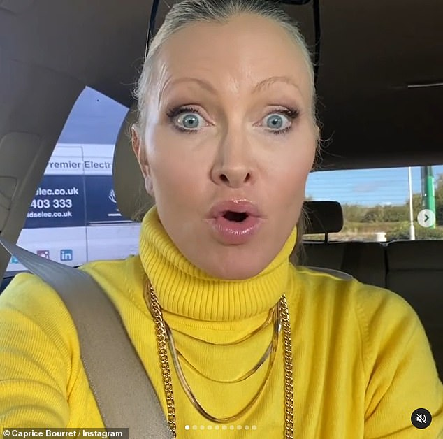 'This is crazy, what is going on?' Caprice shared an Instagram video earlier in the day to vent her anger after the UK fuel shortage caused her to queue for fifteen minutes at a petrol stationnear Peterborough