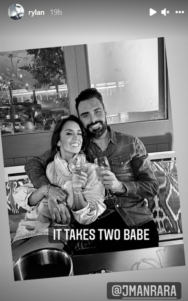 Working together:Rylan Clark-Neal enjoyed a drink with his soon-to-be co-worker Janette Manrara on Friday